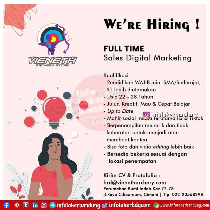 Lowongan Kerja Sales Digital Marketing Vieneth Bandung Maret 2021