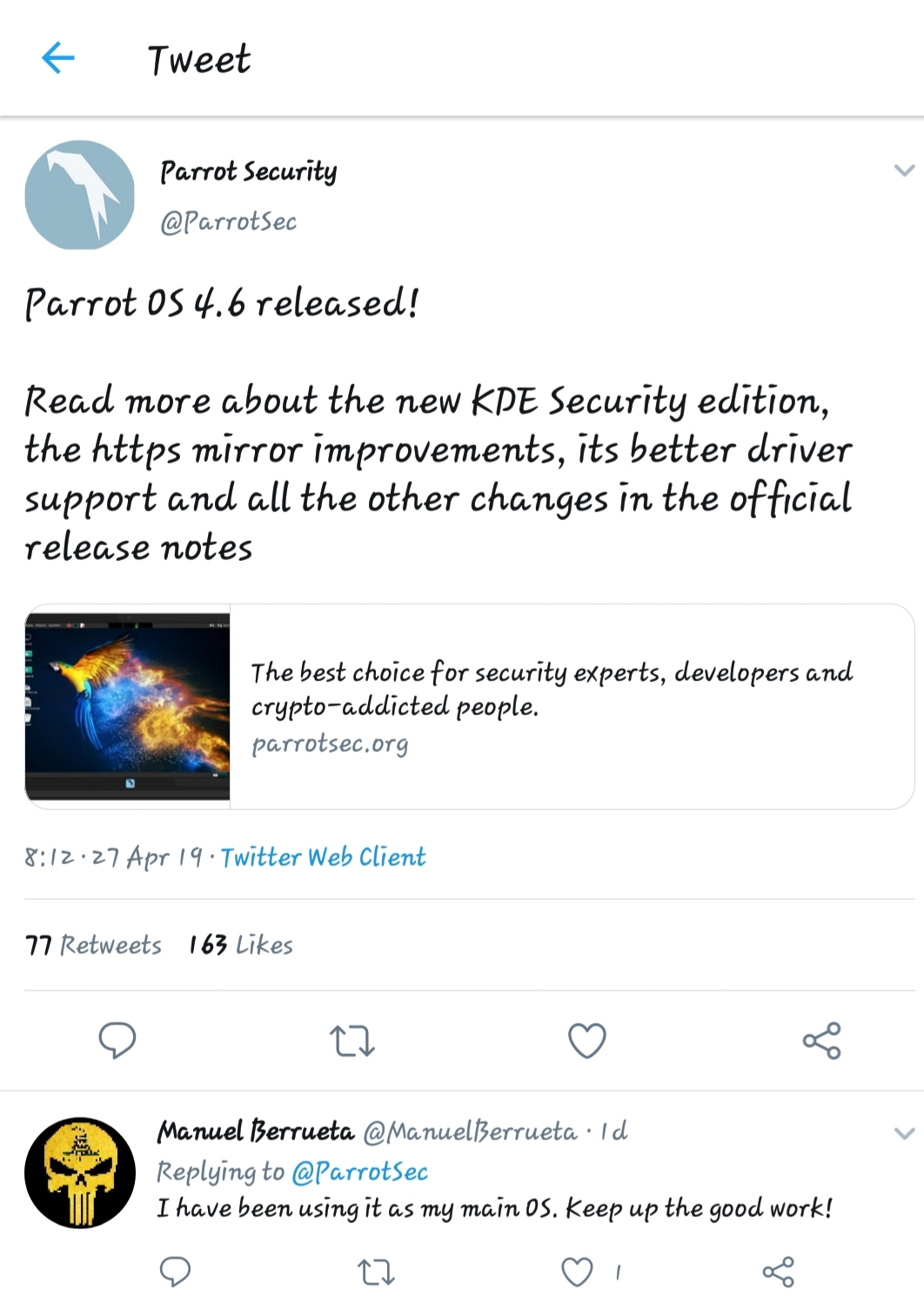 Parrot Security OS New Update 4 6 Released With New Update