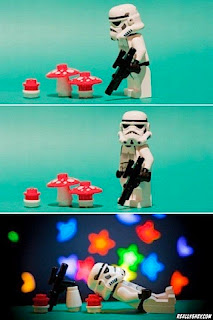 imperial stormtrooper eats magic mushrooms fly agaric