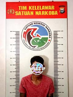 Perangi Narkotika, Polres Pelabuhan Makassar Ciduk Pelaku Narkoba di Tengku Umar