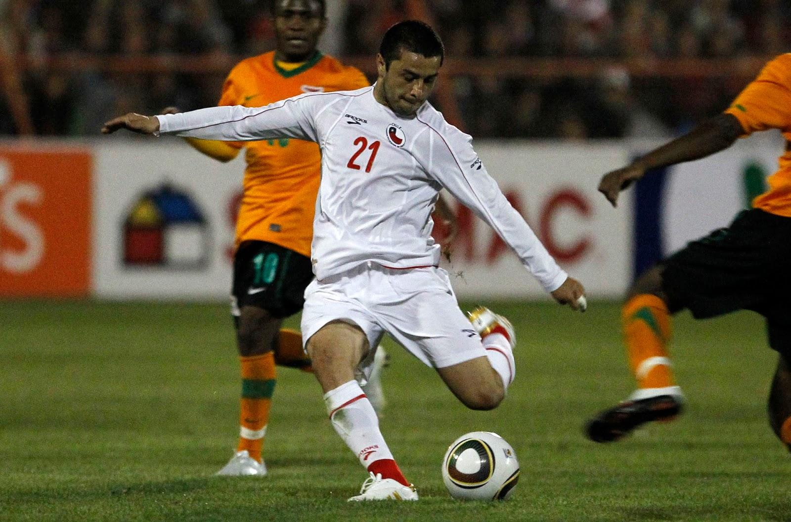 Chile y Zambia en partido amistoso, 26 de mayo de 2010