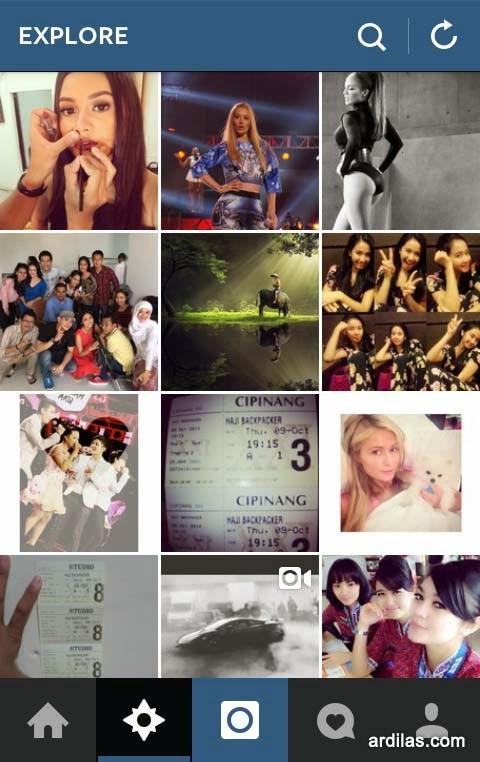 Explore - Kenali Aplikasi Instagram & Cara Pemakaiannya Bagi Pemula