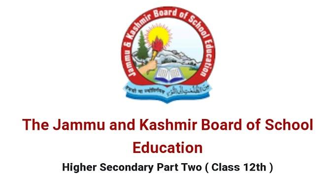 JKBOSE RESULT OF CLASS 12TH (ANNUAL/REGULAR 2020) (WINTER ZONE) DECLARED