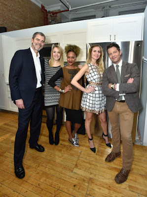 David Vanderwaal, Vice President, LGEUS Marketing, Alex Sobolewski, Petya Toncheva and Nate Berkus LG US LG Studio Kitchen Appliances #NateBerkusLG