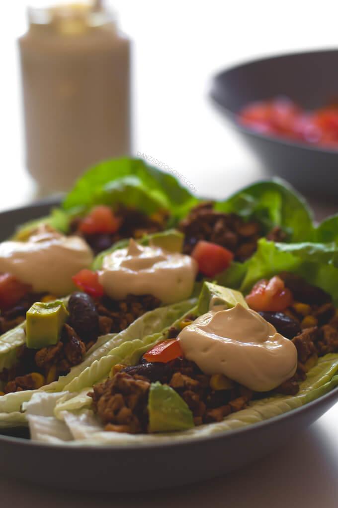 Vegan Lettuce Tacos Recipe   danceofstoves.com