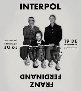 POZ INTERPOL y FRANZ FERDINAND en concierto