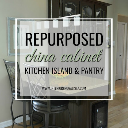 China Cabinet Hack to Kitchen Island and Pantry