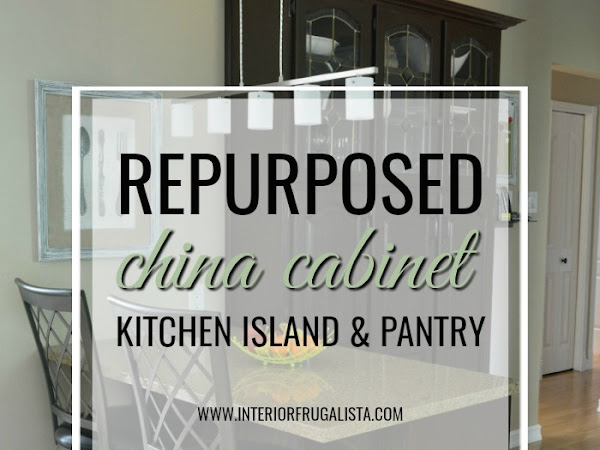 Repurposed China Cabinet Into Kitchen Island And Pantry
