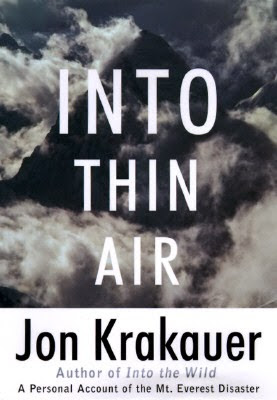 Into Thin Air by Jon Krakauer - book cover