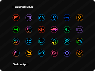 Horux Black – Pixel Icon Pack v1.4 [Patched] APK
