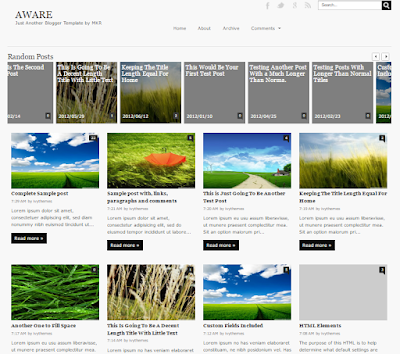 Free Download Aware Responsive Bogger - Template template for the story