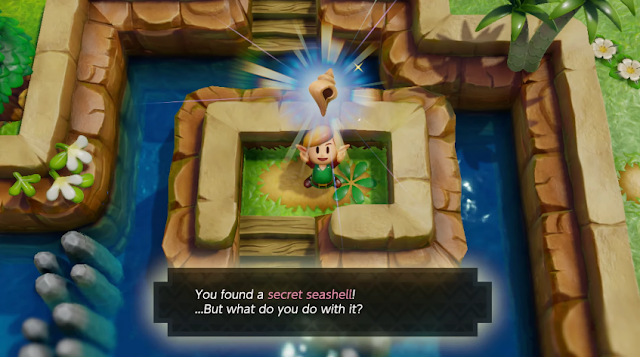 The Legend of Zelda Link's Awakening Nintendo Switch secret seashell treasure