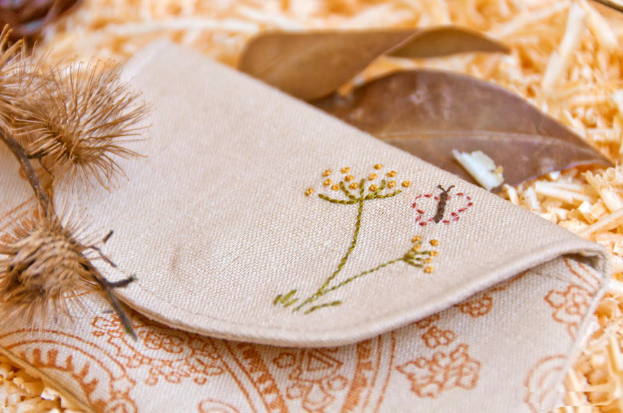 "Cosmetic Bag / Pouch ""Country"". DIY Photo Tutorial and Template Pattern."