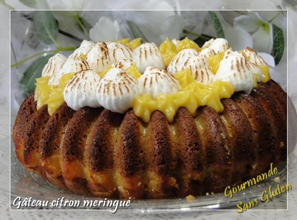 Gâteau citron meringué sans gluten