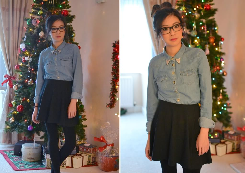 uk fashion blogger, how to wear denim shirt