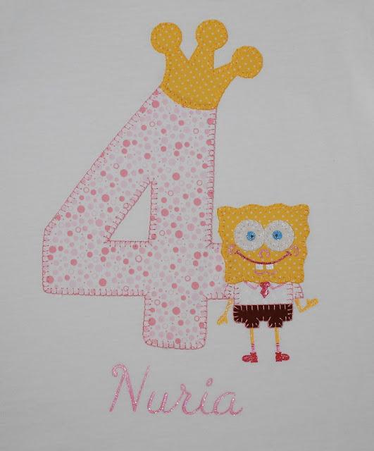 camiseta de cumpleaños bob esponja 4 años