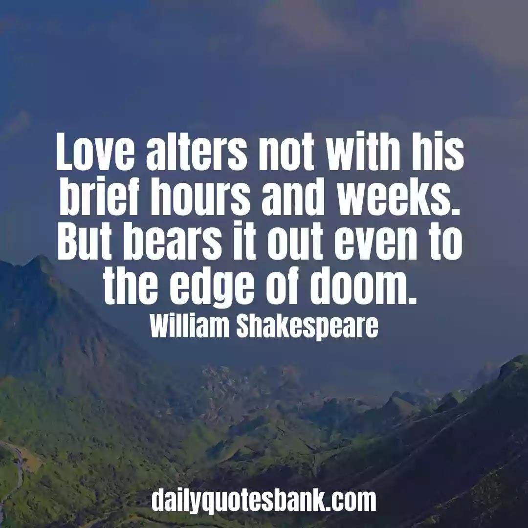 Romantic William Shakespeare Quotes On Love