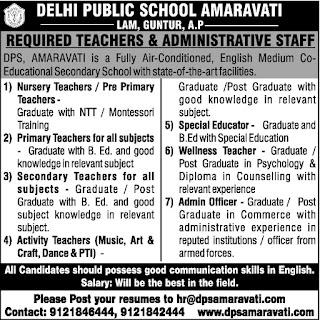 Delhi Public School Jobs