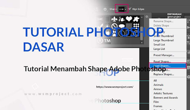 Tutorial Menambah Shape di Adobe Photoshop