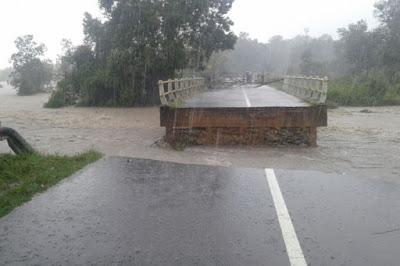 Salah satu infrastruktur rusak di Muntok (Bangkatimes)