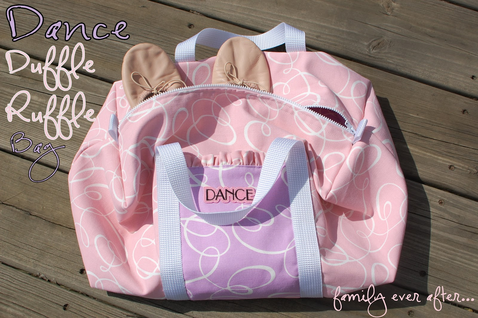 Ruffle Dance Bag Tutorial Lilluna So Cute Your Girls Will Love