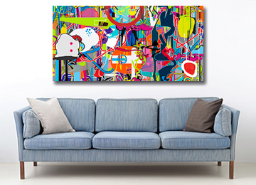 abstract art, large wall art, multi coloured abstract art, contemporary art, street art, modern art, digital painting, abstract artwork, artist, art, Sam Freek,