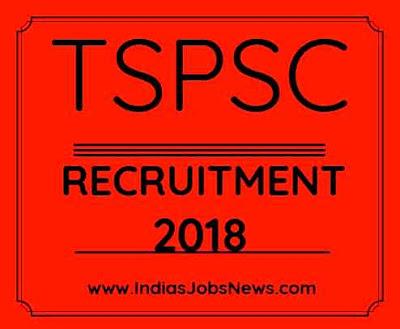 TSPSC Recruitment 2018 Professors