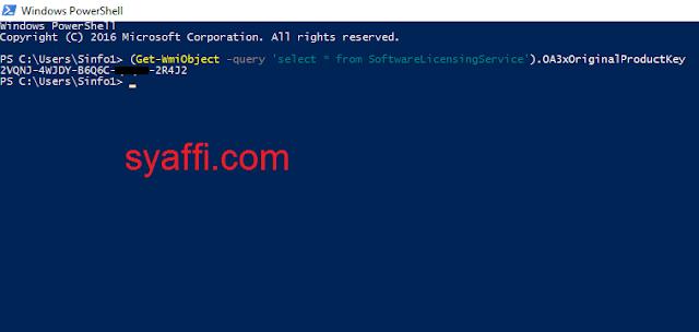 9. Mencari Windows 10 Product Key dengan Windows PowerShell