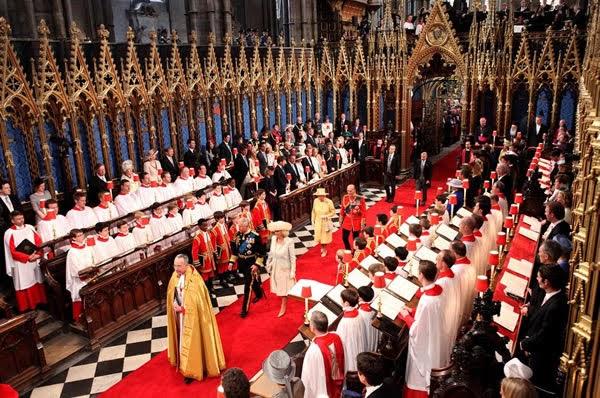 Casamento do duque e a duquesa de Cambridge em 2011 na Abadia de Westminster. Foto: Getty Images-Hunffingon Post