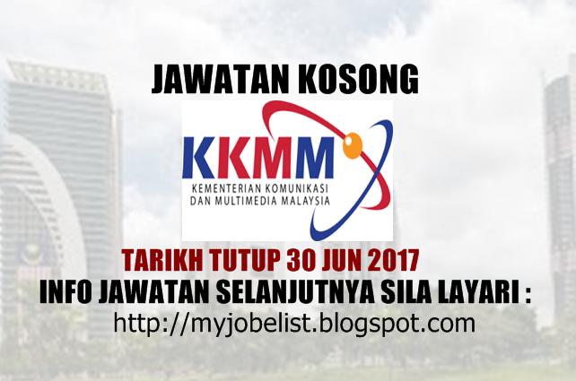 Jawatan Kosong di Kementerian Komunikasi dan Multimedia Malaysia Jun 2017