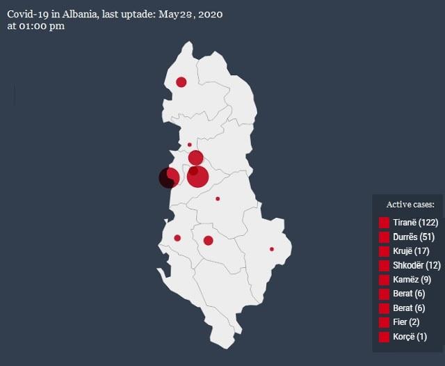 26 new cases of Covid-19 in Albania, all in Tirana
