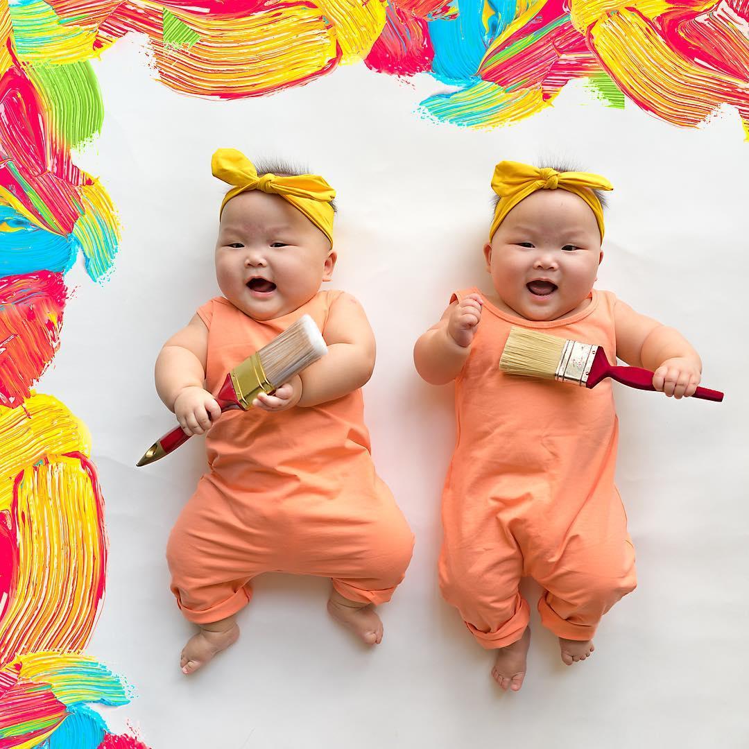 Очаровательные близняшки Лея и Лорен (7 фото)