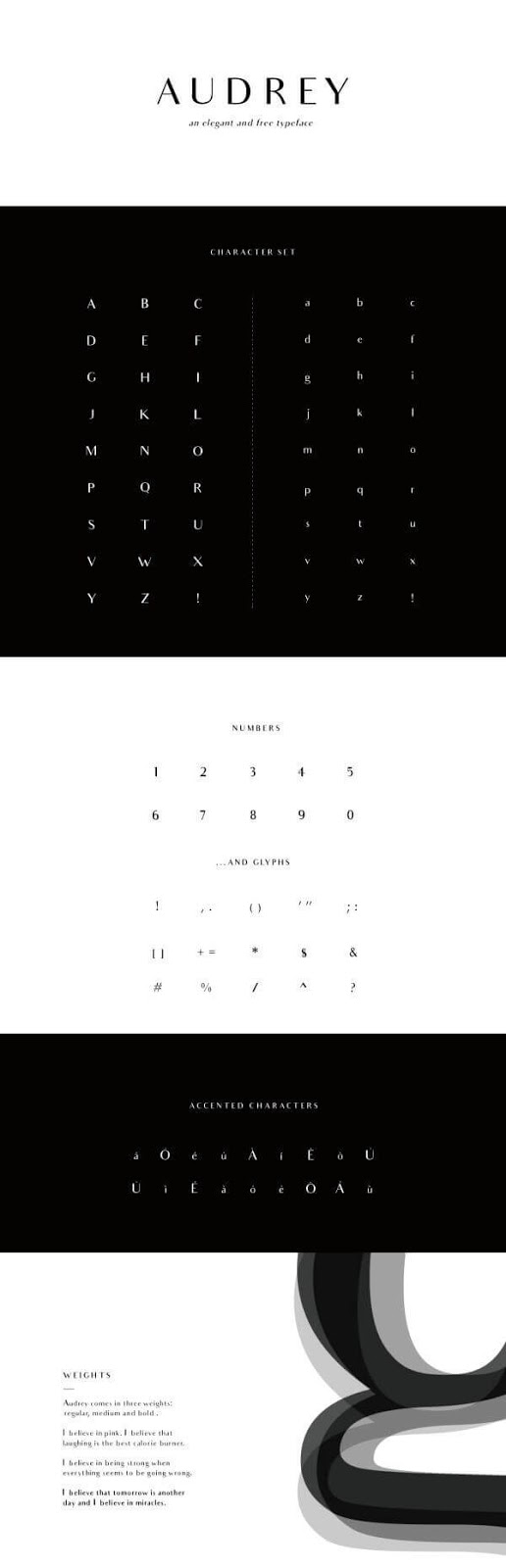 Download Gratis Sans Serif Komersial Font - Audrey Typeface