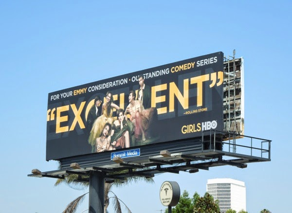 Girls season 3 Excellent HBO Emmy Consideration 2014 billboard