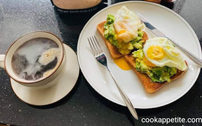 This is an easy and quick avocado toast with eggs.This is one of the best and heathy breakfast you'll ever have.it's a light meal breakfast or snack full of proteins.