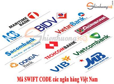 Mã SWIFT CODE/BIC CODE của các ngân hàng Việt Nam