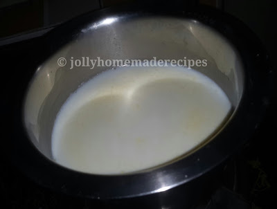 heat milk for making phirni