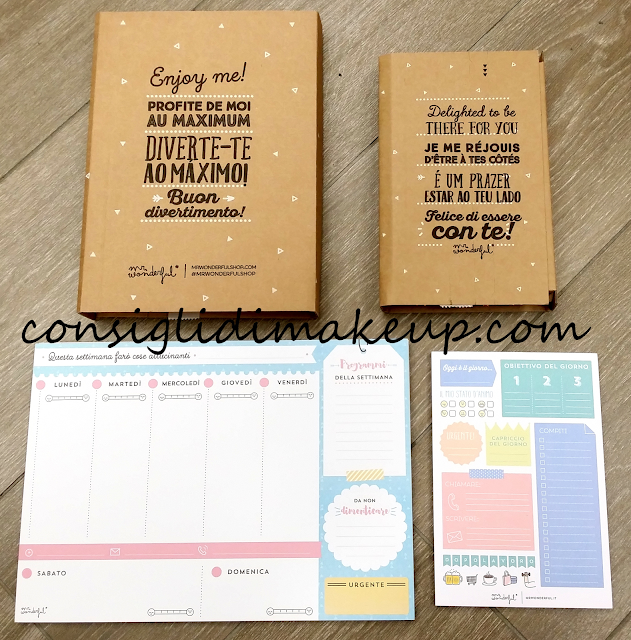 Haul Mr. Wonderful: Agende, Planner e Block notes!