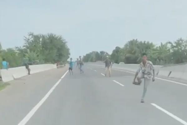 Viral Video Aksi Pemalakan dan Pelemparan Batu di Tol Medan