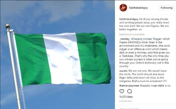 Falz reacts to the threat to Igbos by Northern youths to vacate the region