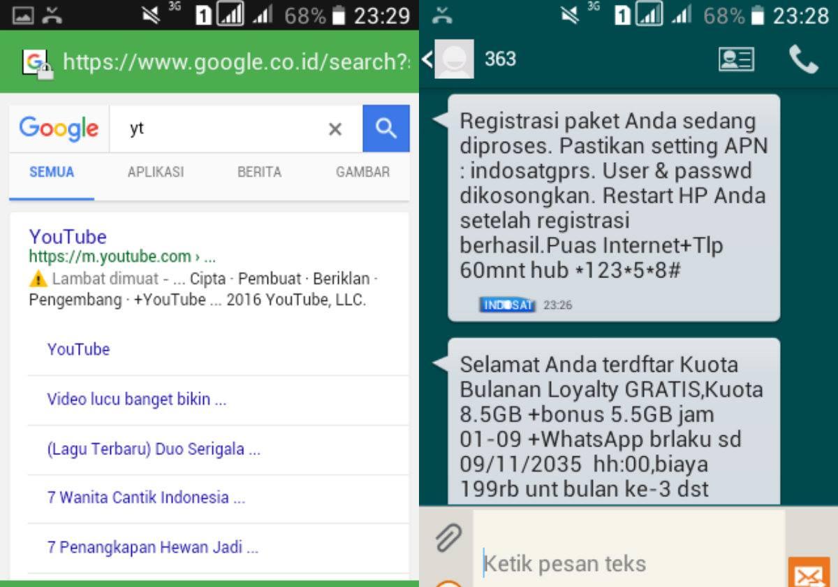 paket internet gratis paket kuota bulanan loyalty Indosat Ooredoo