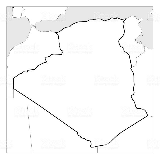 Printable Blank Map of Algeria