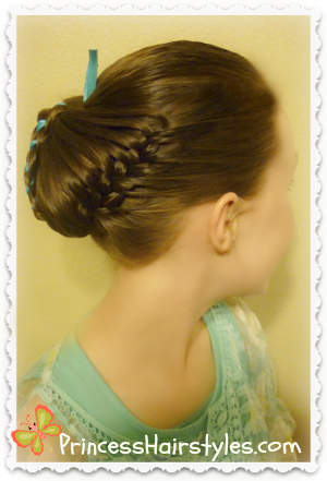 Spring hairstyle, butterfly hair tutorial