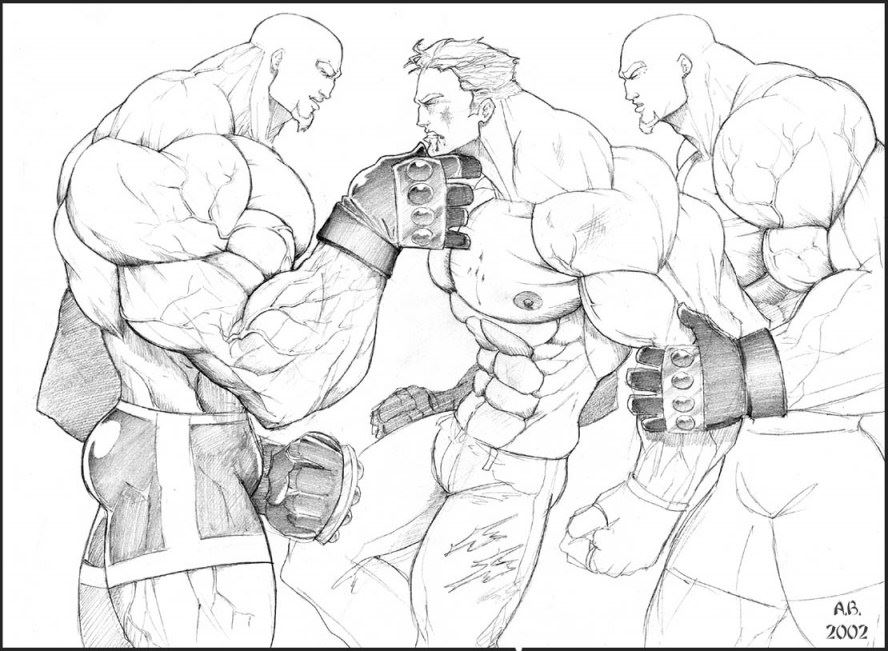 Sketch Bodybuilder Animated