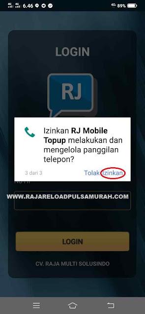 Izinkan RJ Mobile Topup Melakukan dan Mengelola Panggilan Telepon