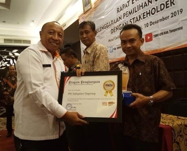 PWI Kabupaten Tangerang Dianugerahi Penghargaan Pemilu