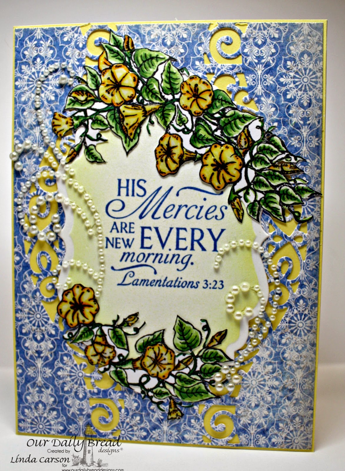 ODBD, Glory, Vintage Labels die, Christian Faith Collection, designer Linda Carson