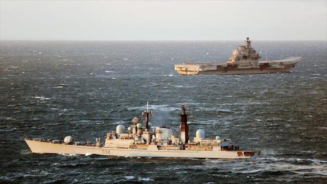 Armada del Reino Unido escoltará a portaviones ruso