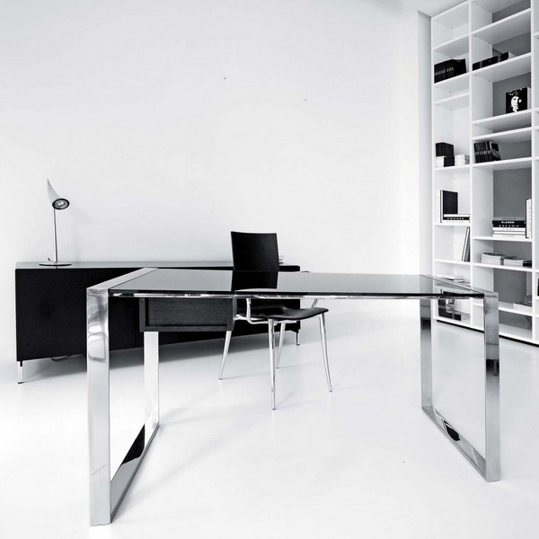 Glass Desk Office Furniture Images About Glass Desks 22Office