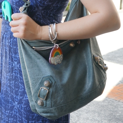 blue dress, storm Balenciaga giant hardware Day bag in 2009 tempete | Away From The Blue